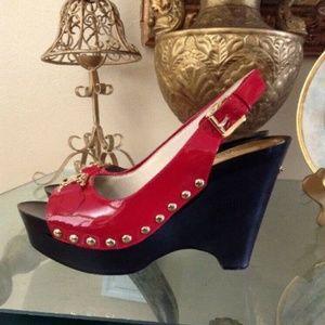 MICHAEL Michael Kors Shoes - MICHAEL MICHAEL KORS RED PATENT LEATHER PLATFORM